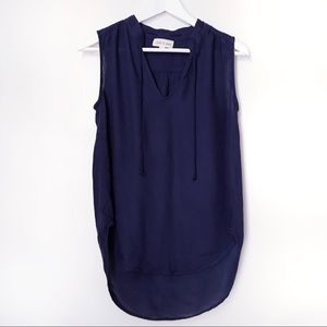 Cloth & Stone Navy Sleeveless Top Blouse. XS